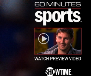 Lionel Messi will feature on 60 minutes Sport