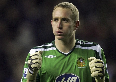 Wigan Athletic's Chris Kirkland