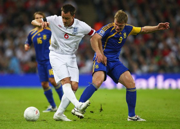 England's John Terry in action against Ukraine in a World Cup qualifying game