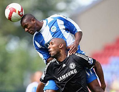 Nicolas Anelka against Wigan Athletic