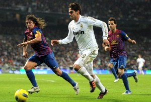 Puyol and Kaka may feature as substitutes only when Barcelona and Real Madrid lock horns at the Camp Nou in El Clasico on Saturday, April 21.