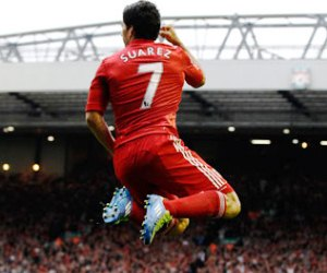 Luis Suarez could decide Saturday's Liverpool vs Arsenal lunch time kick-off in the English Premier League.