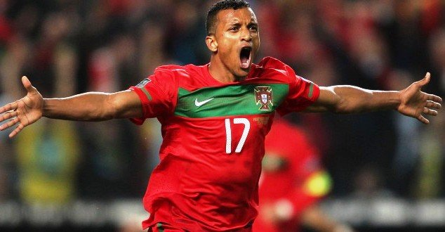 Luis Nani in action for Portugal