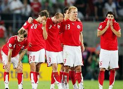Switzerland players looking desperate.