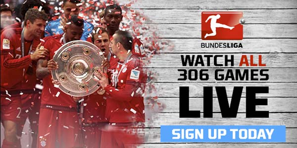 Watch 100% of Bundesliga Live