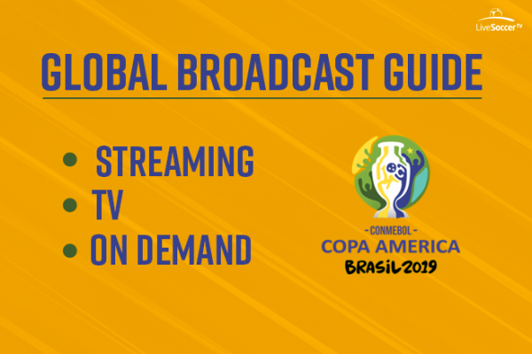 Official global broadcast guide for the 2019 Copa América