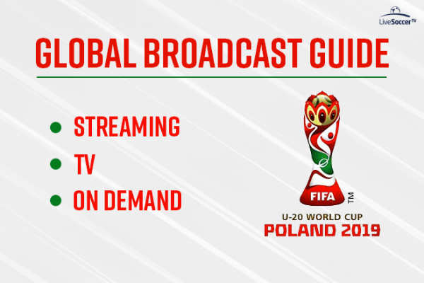Official global broadcast guide for the 2019 FIFA U-20 World