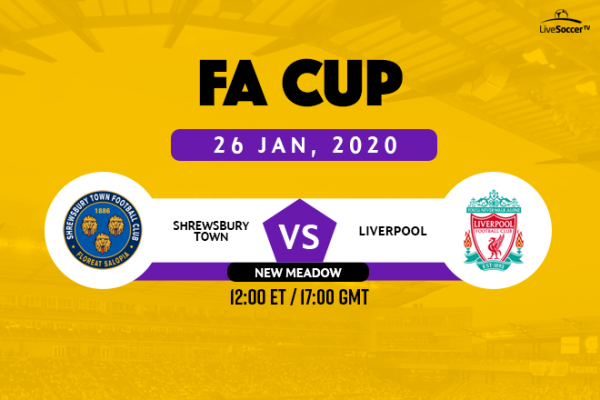 Fa Cup How To Watch Shrewsbury Town Vs Liverpool Live On January